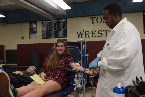 Wauwatosa West student donates blood at last year