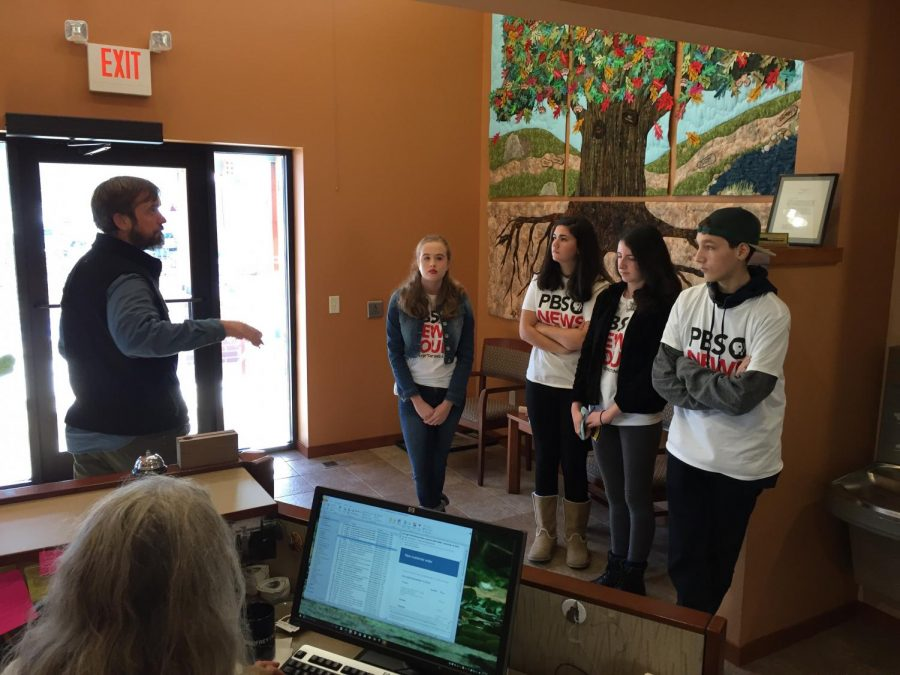 Wauwatosa West students visit the Ice Age Trail Alliance.