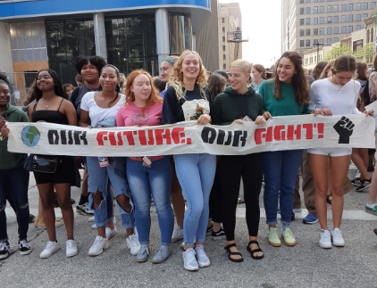 Wauwatosa West Students Participate in Milwaukee Global Climate Strike