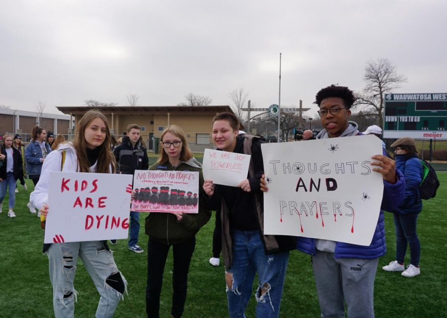 Over+200+Wauwatosa+West+students+participated+in+a+student+led+%22walk+out%22+from+11%3A00+to+12%3A30+on+Friday%2C+December+13th.