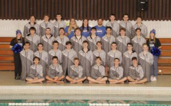 Wauwatosa Boys Swim Team with Coach Hiedi Hegwood