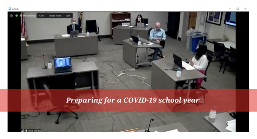The Wauwatosa School Board Meeting August 24th consisted of a Hybrid Model with some attending in person and others connecting via the video conferencing platform Zoom.