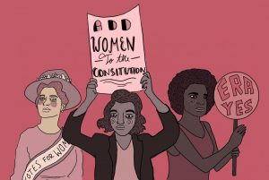 Women are still not included in the American Constitution.