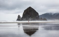 Haystack with Red Shorts by Evan Decker.
