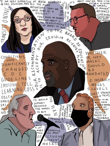 Wauwatosa School Board Meeting graphic by Evelyn Skyberg Greer