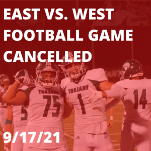 Wauwatosa East VS. West Football Game Cancelled, 9/17/21