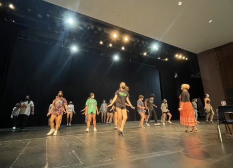 Picture taken from a dance workshop prior to the auditions for 42nd Street